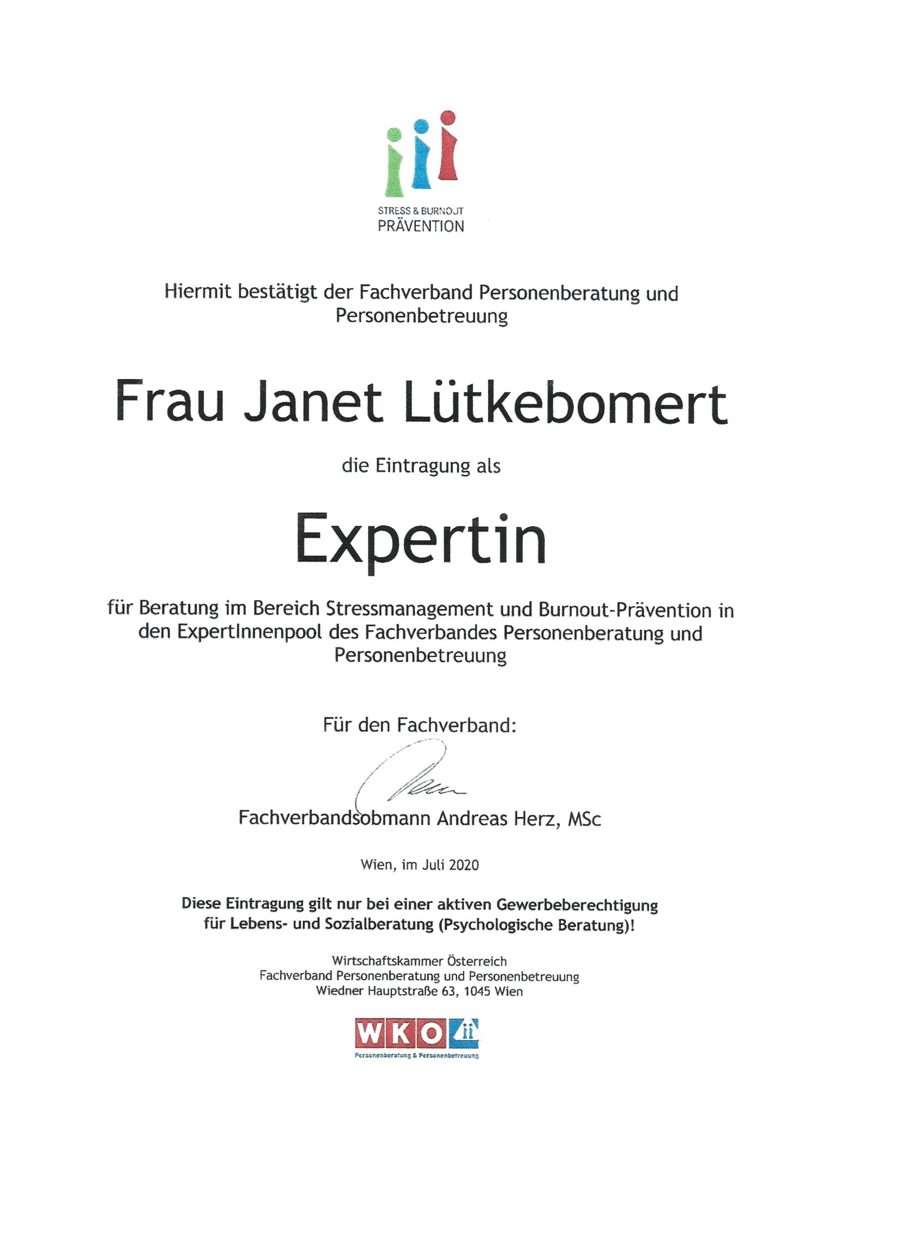Expertin Stressmanagement & Burnout-Prävention
